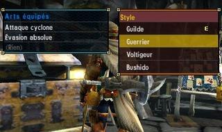 Les 4 différents styles de combat