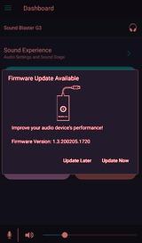 Le firmware se met à jour en Bluetooth