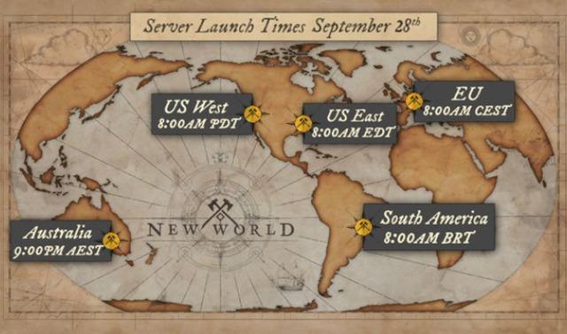 Horaire d'ouverture de New World