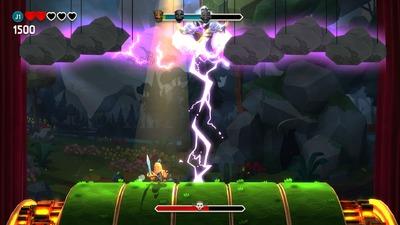 Ce boss qui envoie des éclairs n'est que le premier du jeu et il est bien plus difficile que son homologue de fin de jeu...
