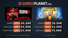 Promo Gamesplanet : Red Dead Redemption 2 (-29%), Borderlands 3 (-34%)