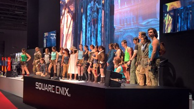 PGW - Stand Square Enix - Concours cosplay Lara Croft