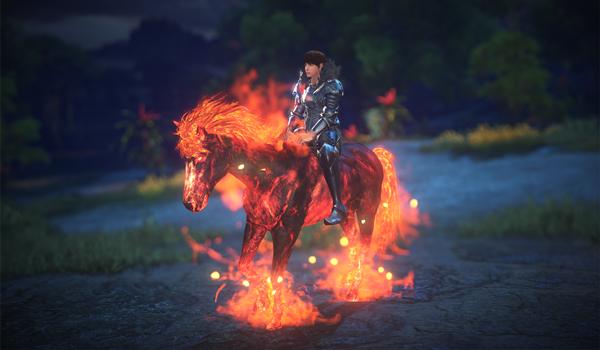 Monture : cheval de feu