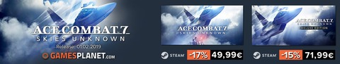 Ace Combat 7 : Skies Unknown - Bons plans : jusqu'à -17% sur le prix de vente d'Ace Combat 7: Skies Unknown