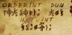 Alphabet infernal et citation latine...