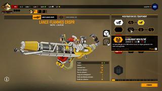 Une myriade d'améliorations sont disponibles, notamment pour les armes