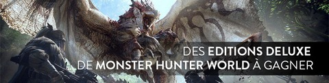 Quatre éditions Deluxe de Monster Hunter World à gagner