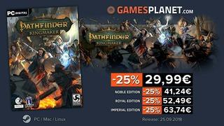 Bon plan : 25% de réduction sur Pathfinder Kingmaker