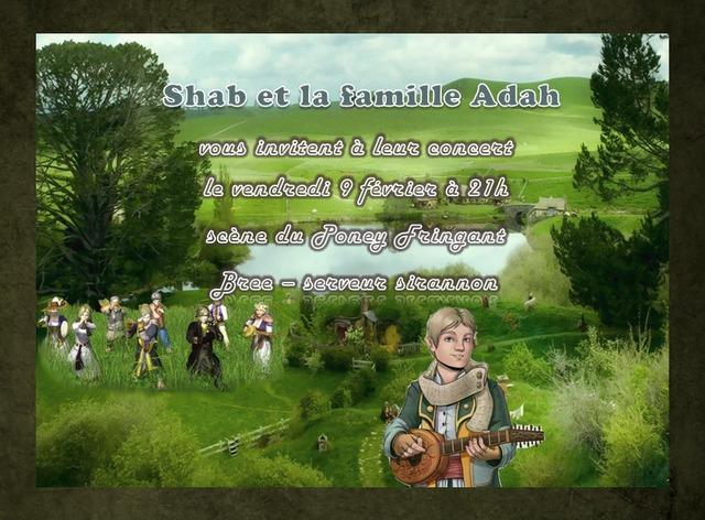 Shab et la famille Adah concert 9 février 2018