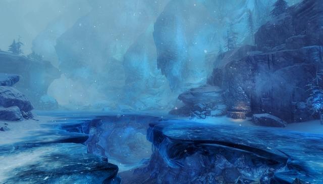 Frontière de Bjora - Lac gelé