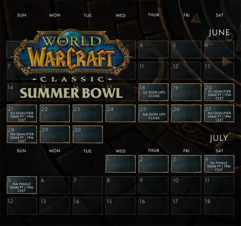 World of Warcraft Classic - Esport : Blizzard ouvre les inscriptions du Summer Bowl de WoW Classic