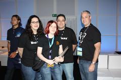 Bellandy en compagnie de l'équipe Bioware-Mythic à la GamesCom de Cologne
