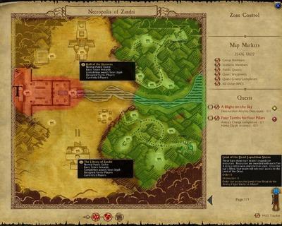 Carte de la Terre des Morts