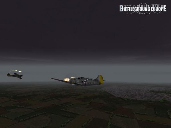 Combat aérien sous un temps pourri