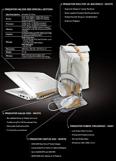 Helios 300 SE specs