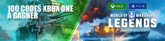 Distribution : 100 codes Xbox One pour bien débuter dans World of Warships: Legends