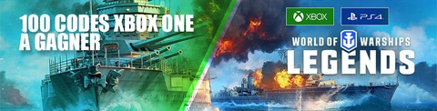 World of Warships: Legends - Distribution : 100 codes Xbox One pour bien débuter dans World of Warships: Legends