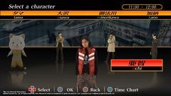 L'écran de sélection des personnages