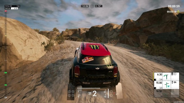Dakar 18 - En course (Capture par gamersyde.com)