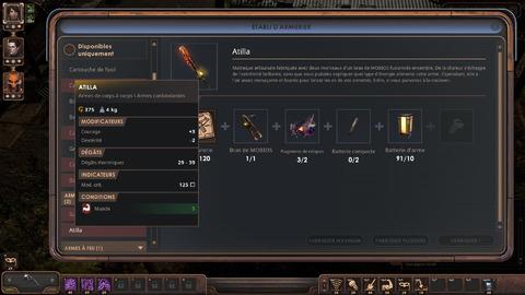 Il est même possible de crafter des armes uniques