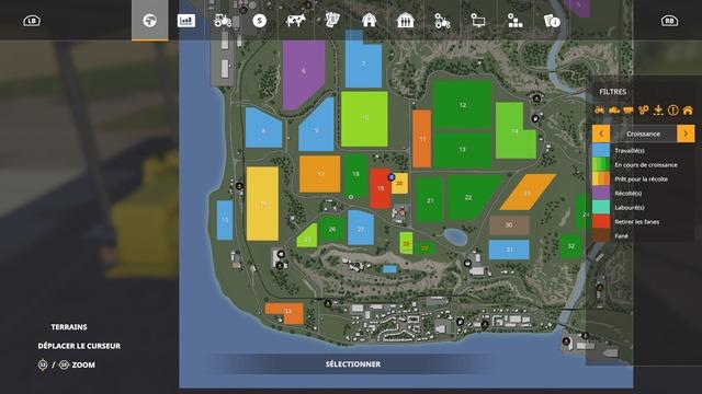 La carte est claire, avec des filtres très appropriés