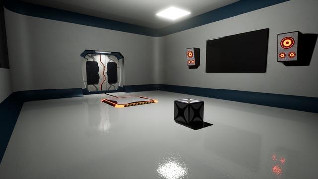 Un cube, une salle blanche : on est au bon endroit