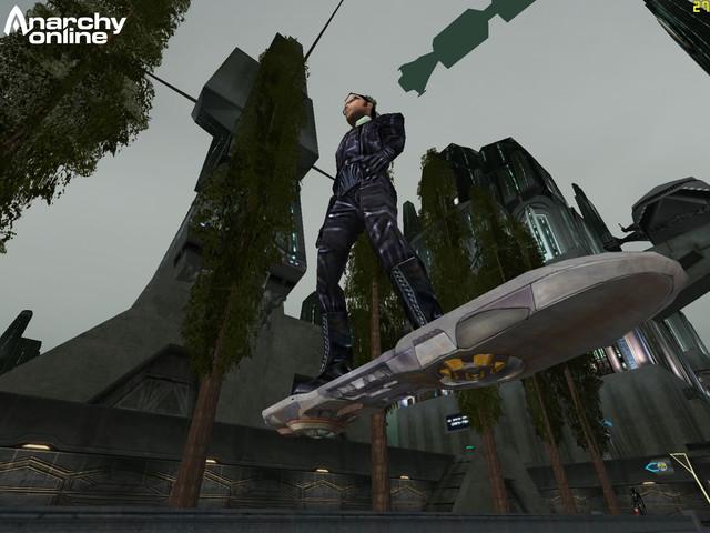 Un hoverboard dans Anarchy Online