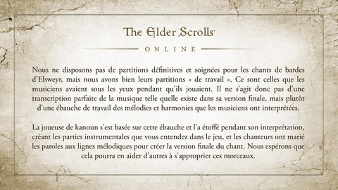 The Elder Scrolls Online: Elsweyr - Les partitions des chants de bardes d'Elsweyr disponibles
