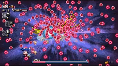 Lors des combats de boss le jeu vire au bullet hell