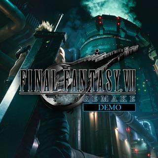 Logo de la démo de Final Fantasy VII Remake