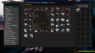 Menu de construction Easy Build de Starbase (détail)
