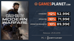 Promo Gamesplanet : The Outer Worlds (-10%), Call of Duty Modern Warfare (-12%) en prétéléchargement