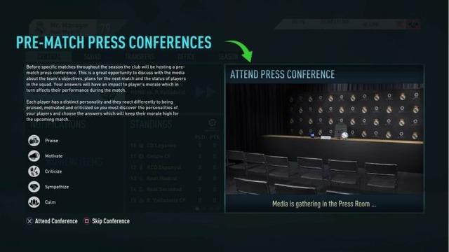 FIFA20CareerMode press conference