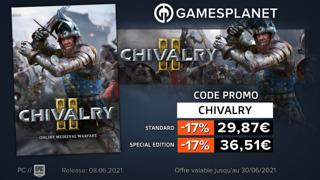 Promo Gamesplanet : jusqu'à -17% sur Chivalry 2