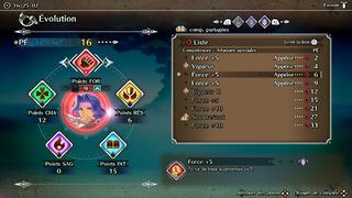 Les axes d'évolution des personnages sont clairs et détaillés.