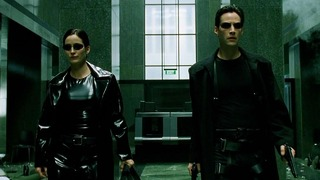 Carrie-Anne Moss (Trinity), Keanu Reeves (Neo)