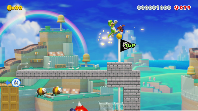 Première à quelques centièmes du Luigi-chat ! Le mode multijoueur est excellent et très prenant... quand la connexion est optimale, ce qui est malheureusement trop rare.