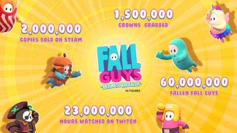 Fall Guys - Deux millions de ventes sur Steam pour Fall Guys