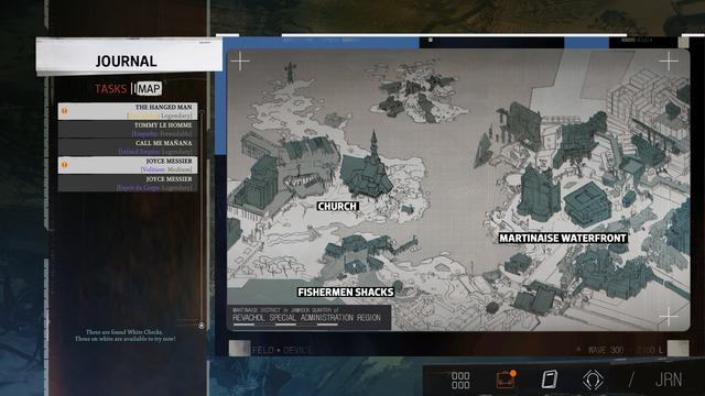 La carte liste les lancers de dés que vous pouvez retenter