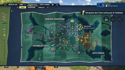 """Carte de la map """"Centre ville"""""""