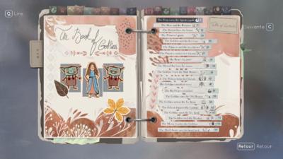 Le livre des gobelins, rassemblant les contes - tous originaux - présents dans le jeu