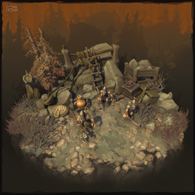 Campement de monstres