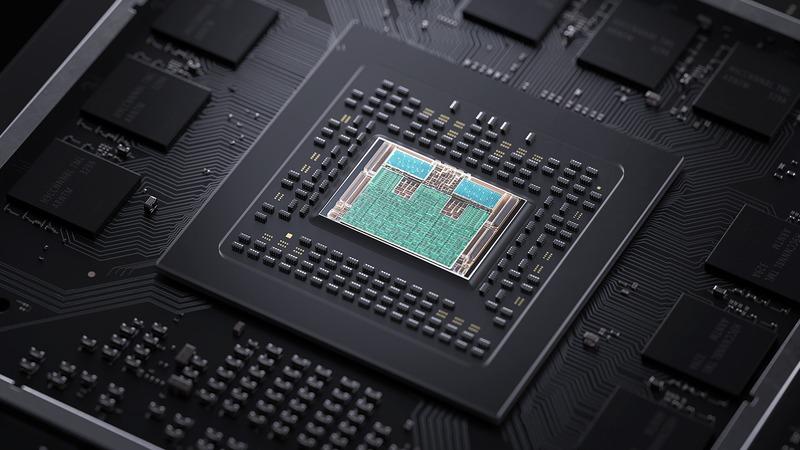 Rendu du processeur de la Xbox Series X