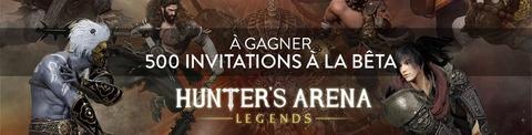 Distribution : 500 clefs bêta de Hunter's Arena à gagner