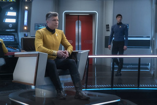 Anson Mount (Captaine Pike), Ethan Peck (Spock)
