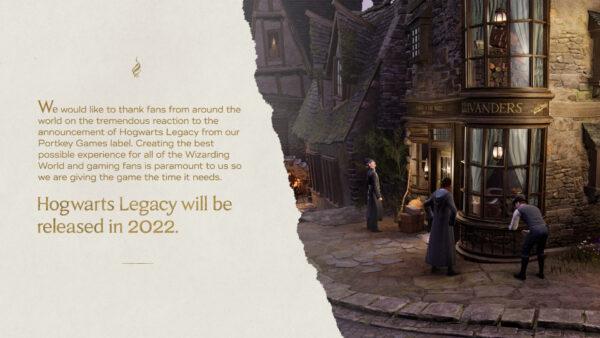 Hogwarts Legacy attendra 2022 pour nous faire visiter l'univers d'Harry Potter