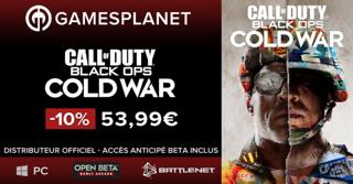 Promo Gamesplanet : la bêta de Call of Duty: Black Ops Cold War en pré-téléchargement et en accès anticipé