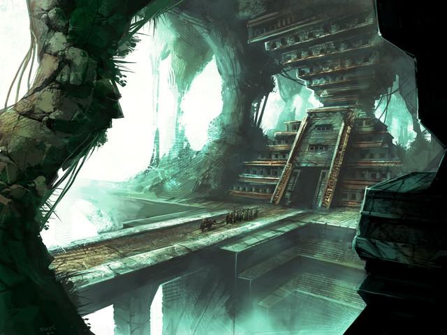Image conceptuelle d'un donjon d'Eye of the North
