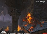 Molosses incandescents du fort du feu