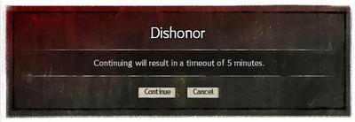 Interface Sans honneur JcJ